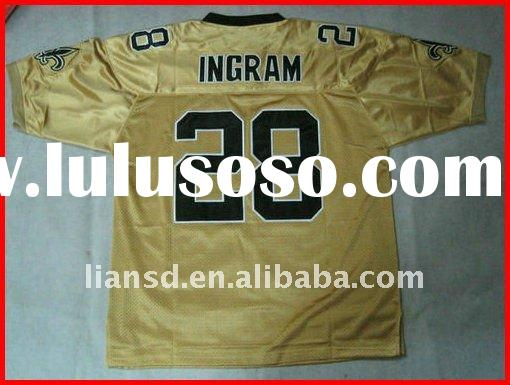 New Orleans Saints #28 Mark Ingram gold Jersey new football jersey100% stitched original jersey payp