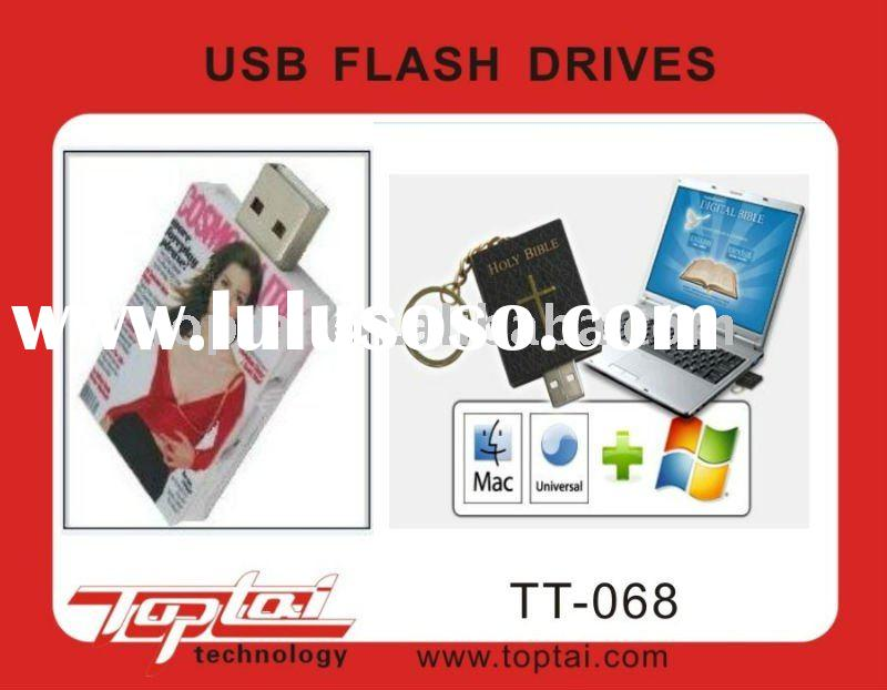 New design book shape usb flash drive from factory supplier