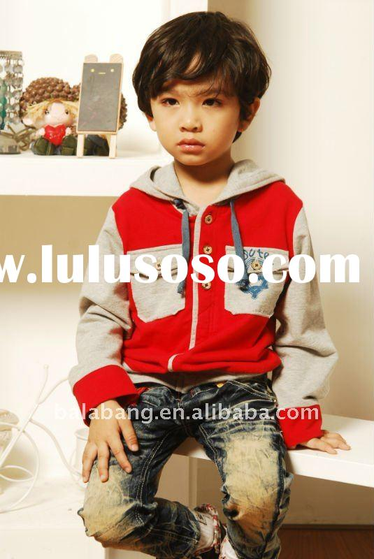 New design kids boys coat with hood-kids clothing