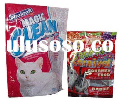 New ! stand up pet food pouch, with reclosable zipper lock top