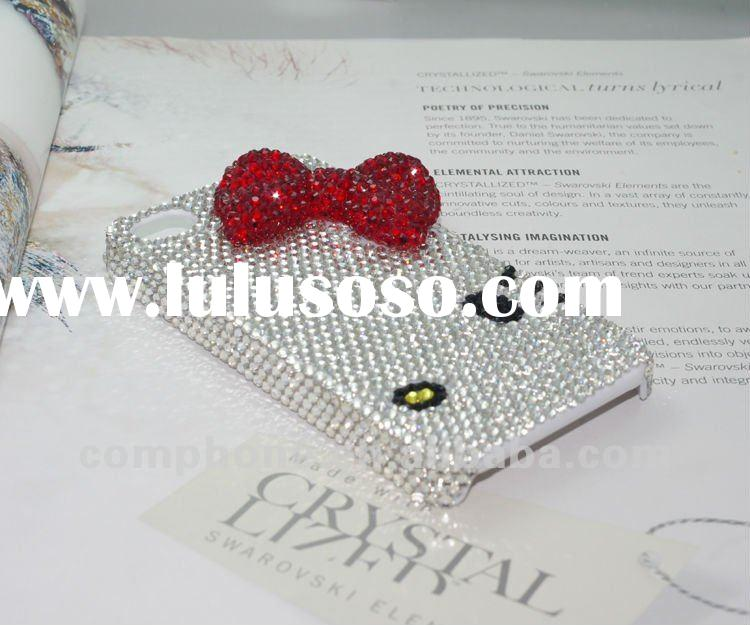Nice Looking ! Fashion luxury swarovski crystal iPhone 4 iPhone 4s case with Cartoon Hello Kitty Des