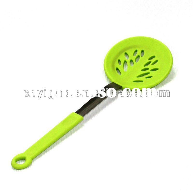 Novelty Craft Silicone Spoon Spatula with Wood Handle for BBQ,Cooking