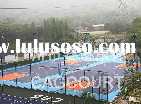 Outdoor rubber basketball court flooring