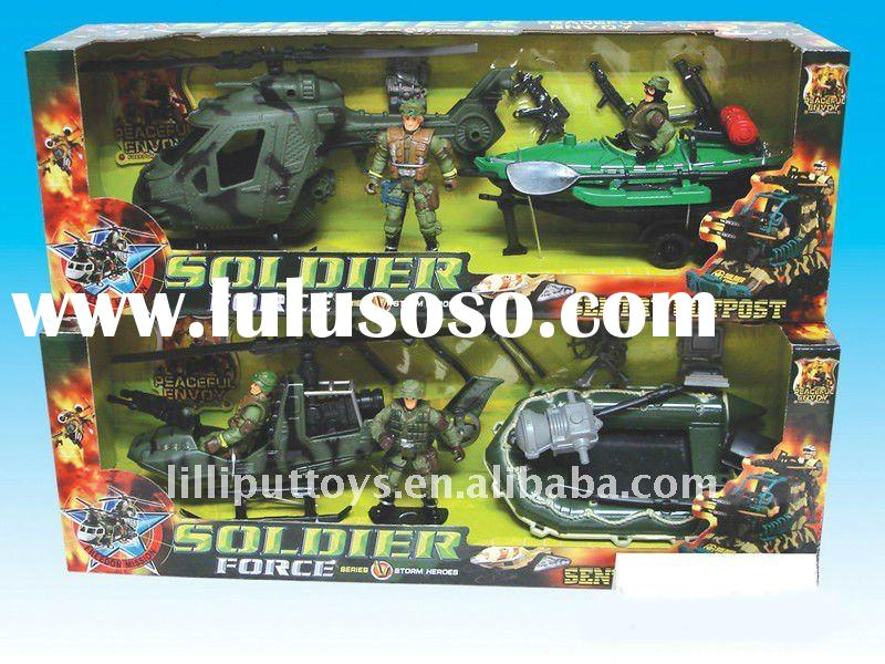 PLASTIC TOY SOLDIER FORCE MILITARY SET