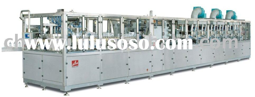 PP bottle blowing washing filling and sealing machine