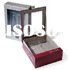 Paper gift boxes with PVC window