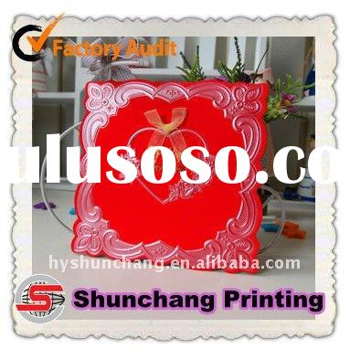 Paper wedding invitation card printing manufacturer