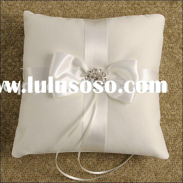 Party supplies / decoration wedding ring pillow/Ring pillows/wedding accessory guest book ring beare