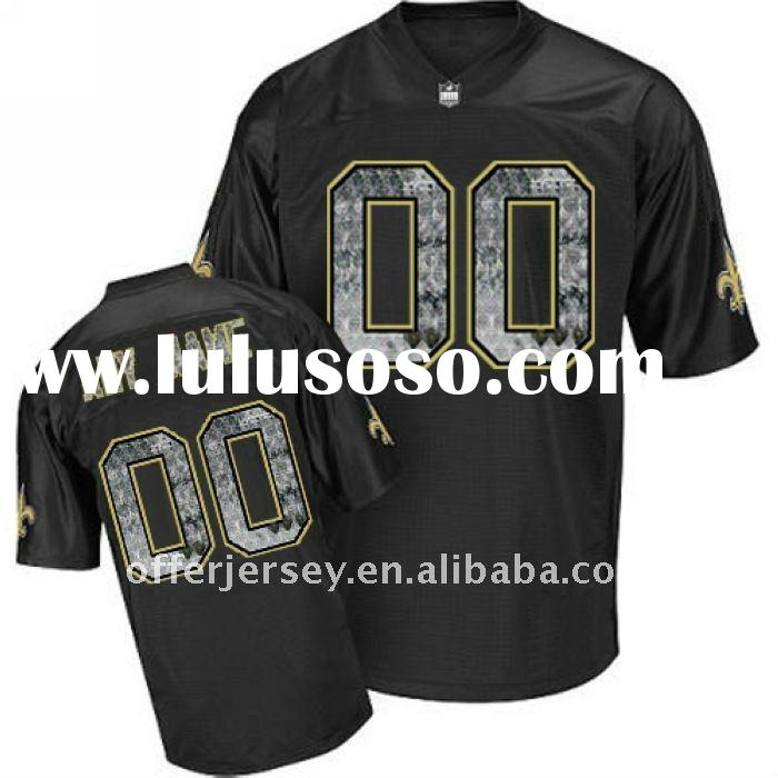 Personalized Any Name New Orleans Saints Football Jerseys Authentic Black Wholesale Sideline Jersey