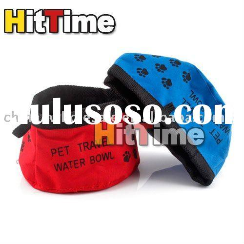 Pet Dog Cat Folding Travel Water Bowls Food Dish New Wholesale