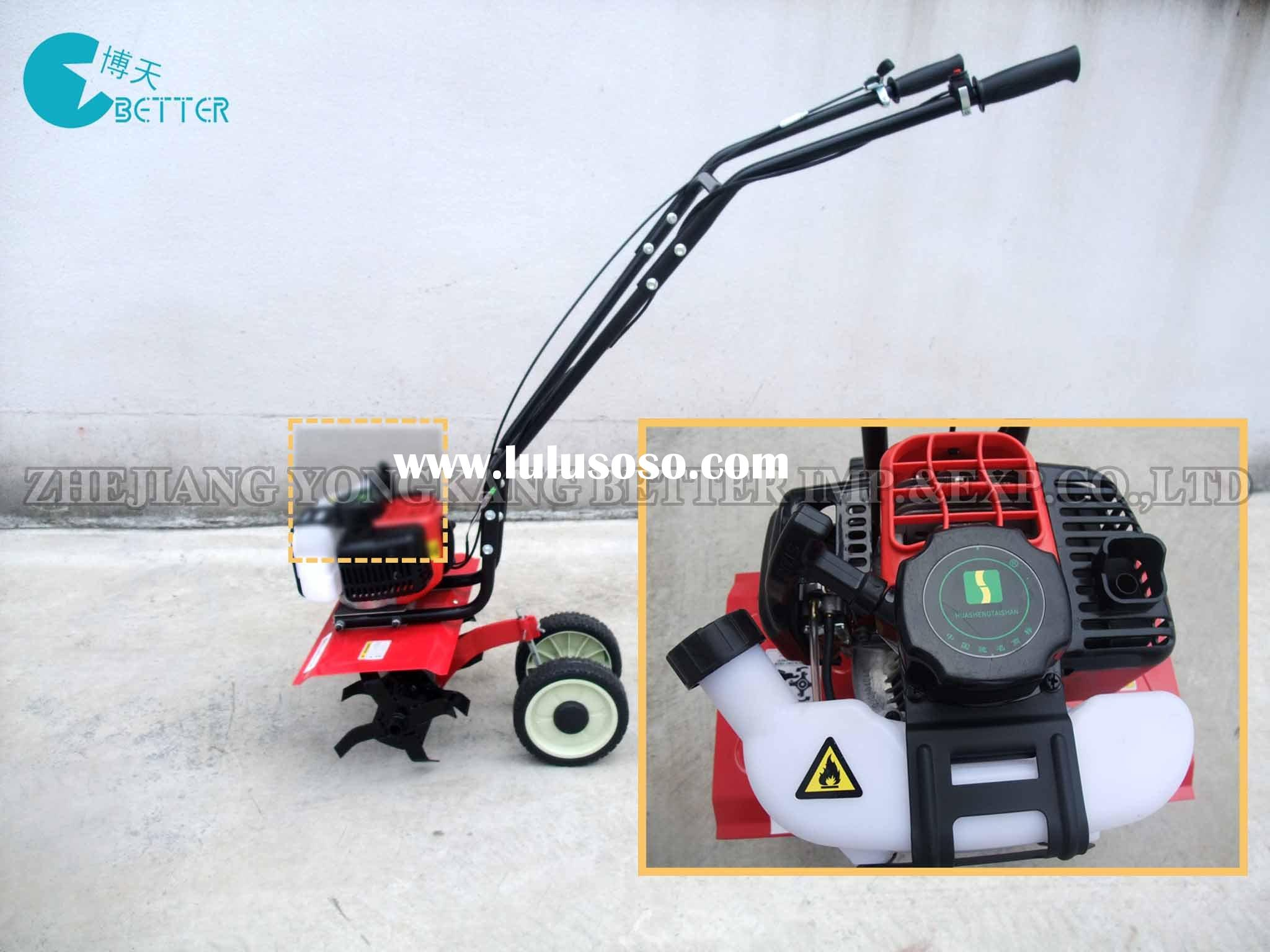 Petrol Rototiller Garden Mini Tiller Cultivator Rotavator (Small light and Compact Garden Tiller) BT