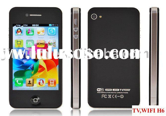 "Phone 4 WiFi TV 3.5"" Touch Screen Mobile Phone H6"
