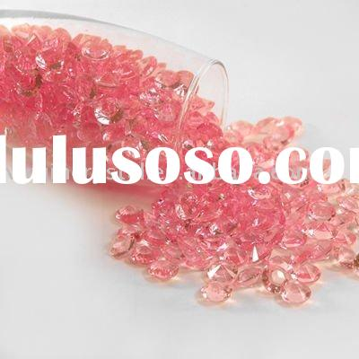 Pink Party Acrylic Diamond Wedding Table Decoration