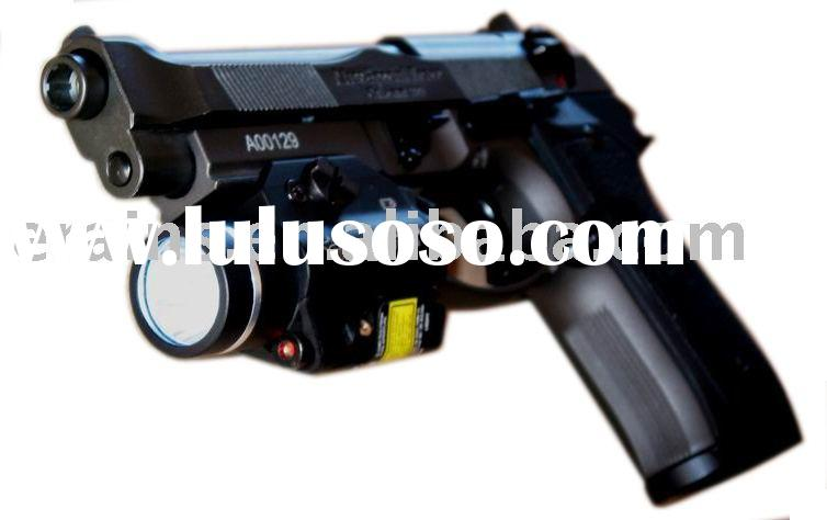Pistol mounted IR laser sight and 200 lumen CREE Q5 LED light combo with strobe function