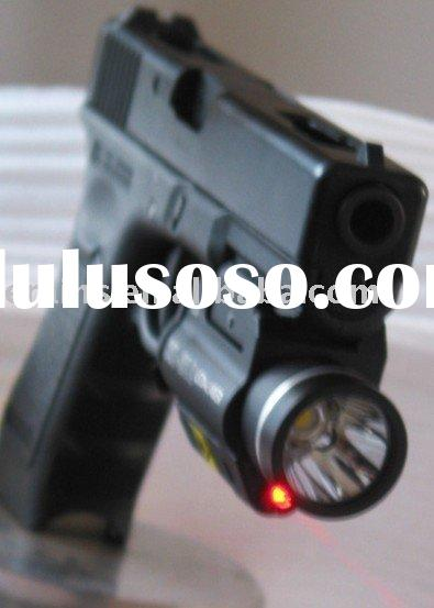 Pistol mounted strobe red laser sight and 200 lumen CREE Q5 strobe LED light combo