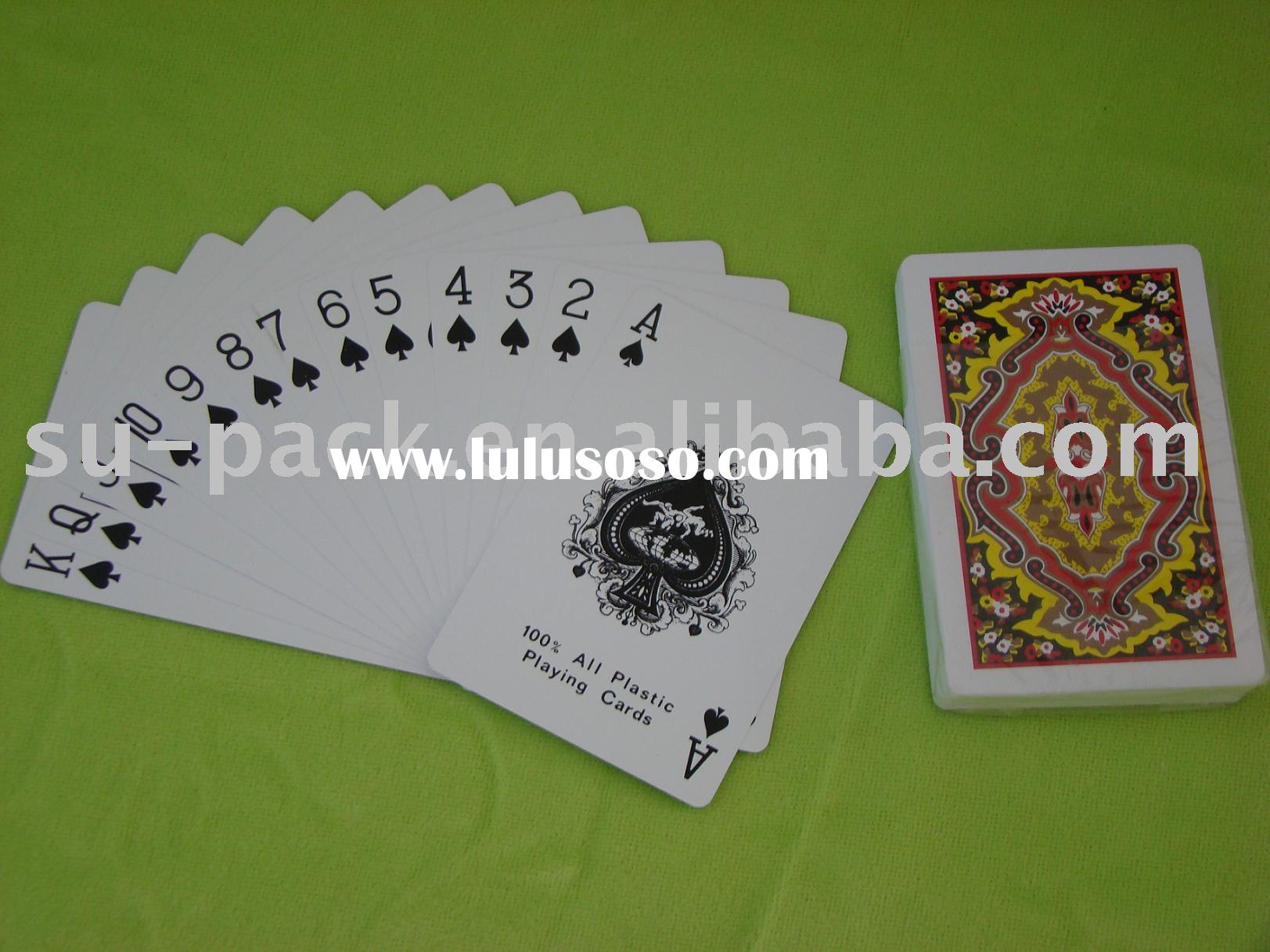 Plastic Coated playing cards/gambling poker/casino playing cards