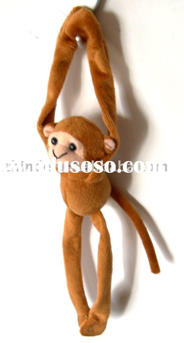 Plush long arms and long feet animals magnet, plush monkey fridge magnet, stuffed animals magnet, pl