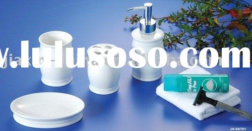 Porcelain bathroom accessories set JX-SA701