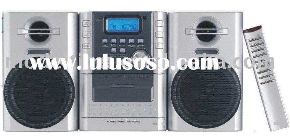 Portable CD Cassette Player with MP3 USB SD Card Desktop Micro System