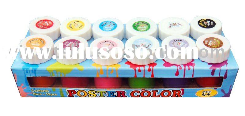 Poster paint color for children to draw