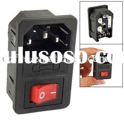 Power Supply Plug Adapter Socket Outlet w On/Off Switch