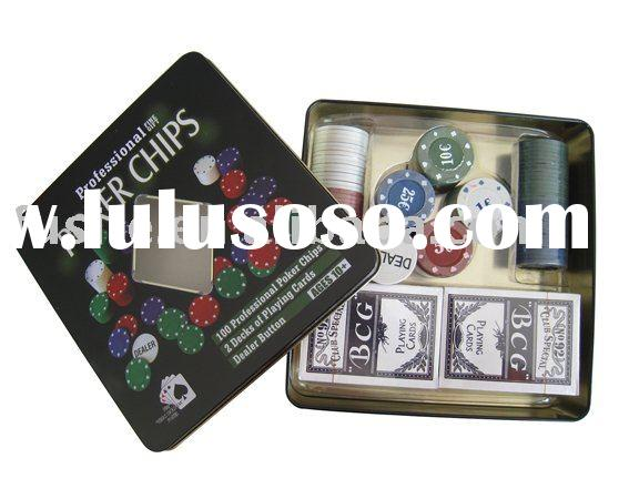 Professional 100 Poker Chip Set