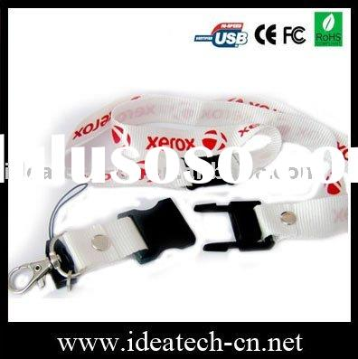 Promotional lanyard usb flash drive, cheap lanyard with usb drive