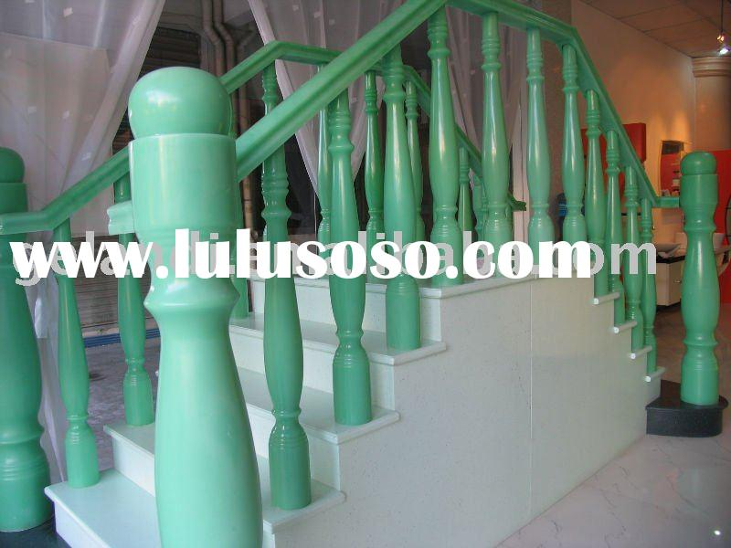 Pure acrylic solid surface stair handrails (house decoration)