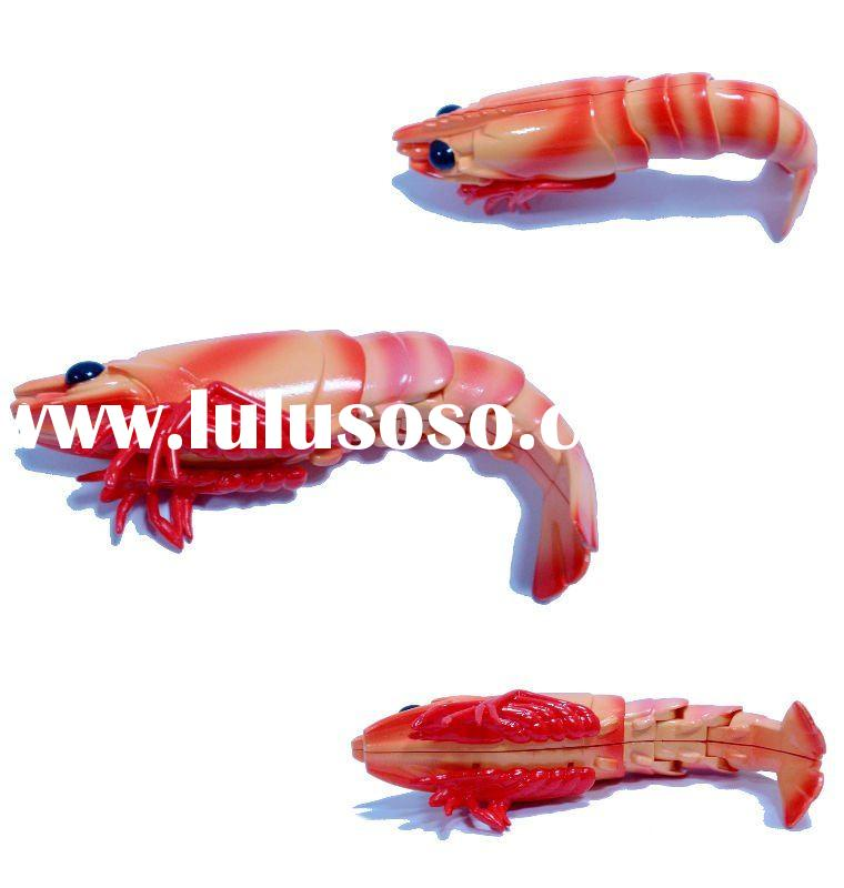 Pvc shrimp craft toy