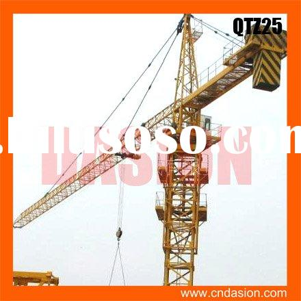 QTZ25 large working radius and lifting height Tower Crane model
