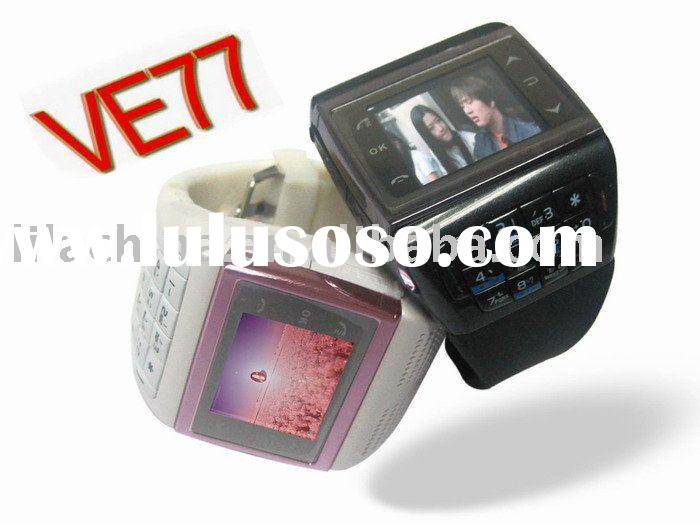 Quad-band dual sim dual standby compass watch mobile phone VE77
