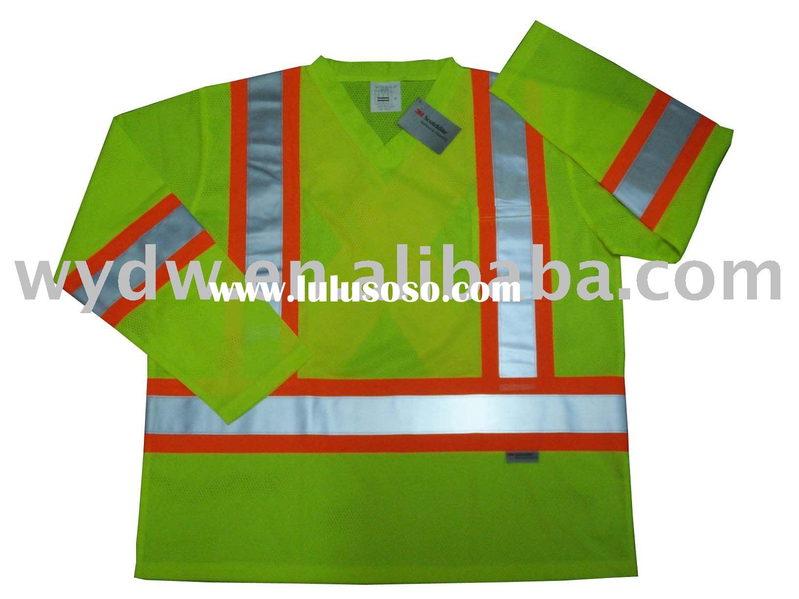 Quick dry Hi-vis Safety t-shirt,Work t-shirt,High visibility reflective t-shirt with 3M tape meeting