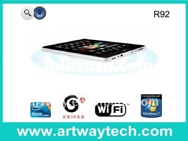 "R92-9.7"" IPS Capacitive Touch Screen Intel Atom N455 Tablet PC Windows 7 OS"