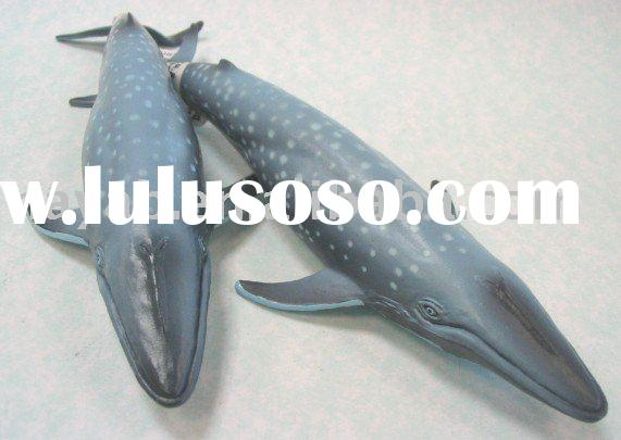 Realistic Blue Whale Figurines