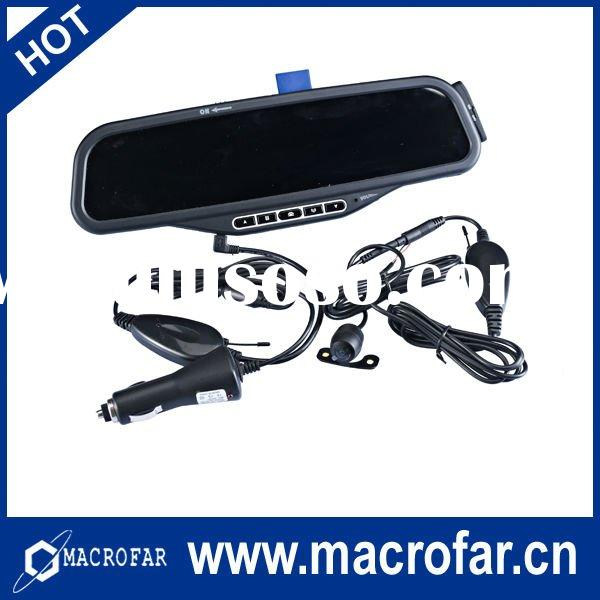 Rearview mirror + Bluetooth handsfree car kit +Wireless camera with 3.5 inch screen(MF-100B)