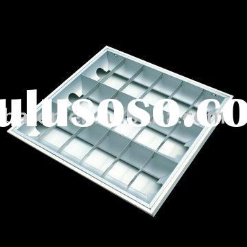 Recessed Fluorescent Grid Light / Grille lamp Fixture