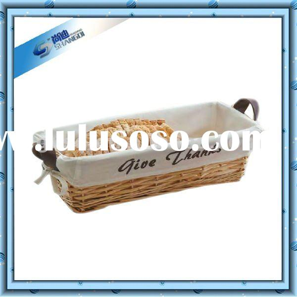 Rectangle Wicker Food Storage Bread Basket