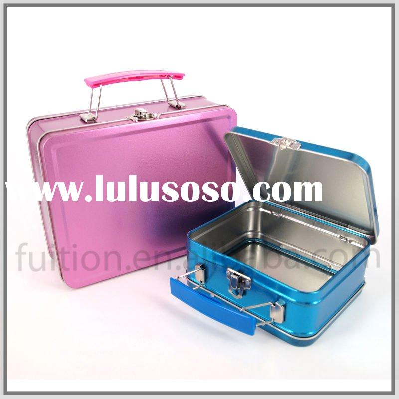 Rectangular Lunch Food Tin Box Container