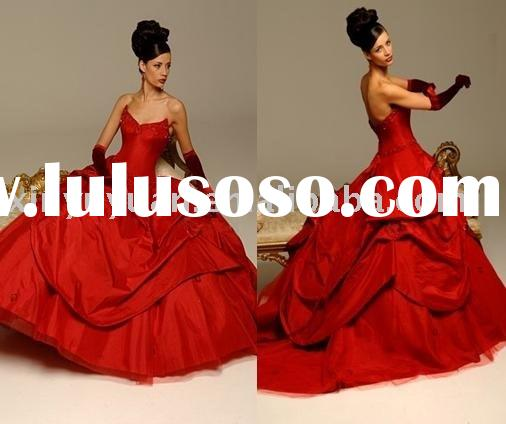Red hollywood ball gown bridal wedding Dress IDCN-023