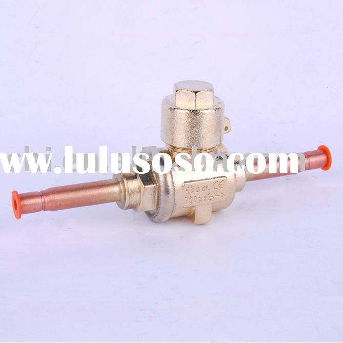 Refrigeration access ball valve