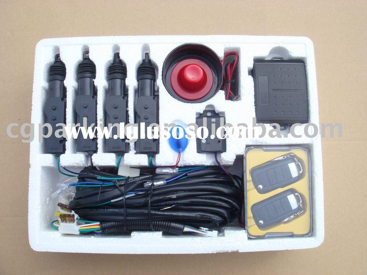 Remote central locking car alarm kit door lock with alarm