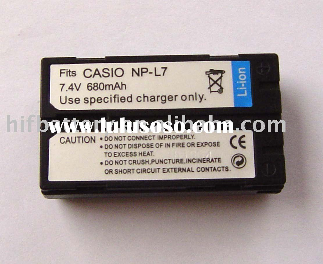 Replacement camera battery NP-L7 L7 for Casio