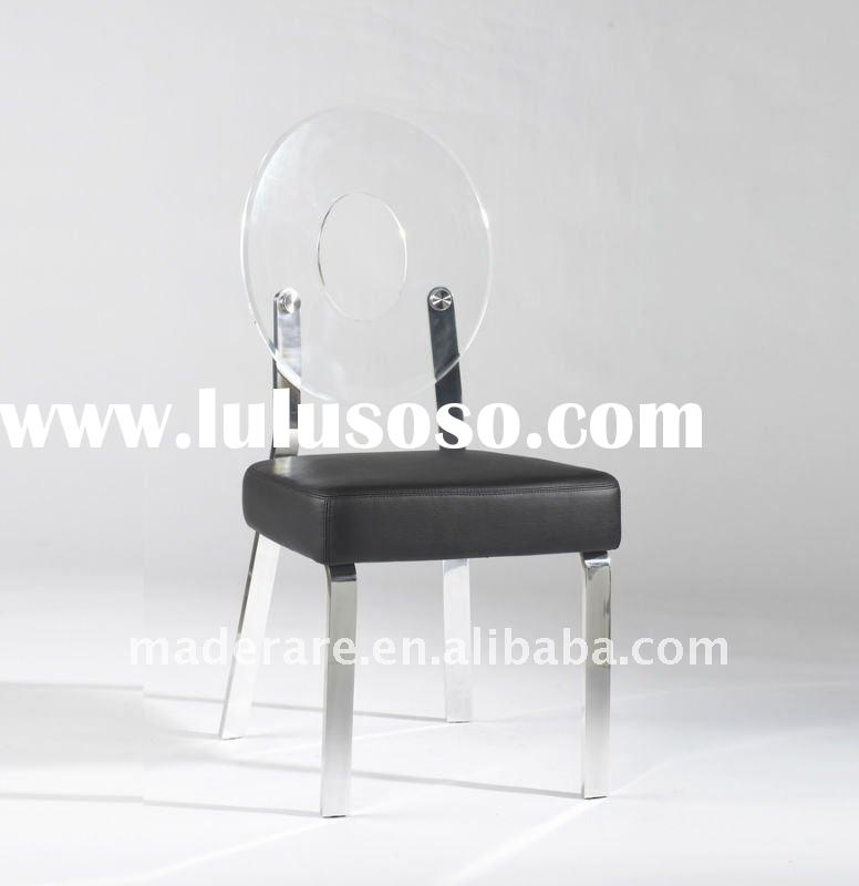 Round back design acrylic dining chair,acrylic living room chair