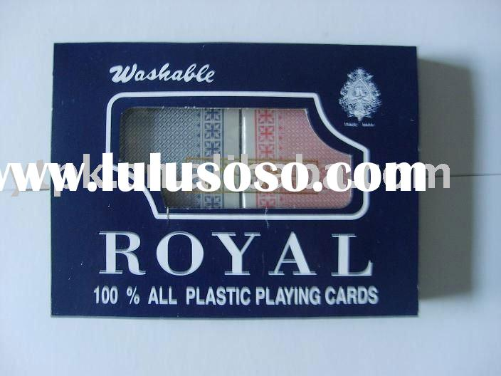 Royal 100% Plastic Poker Cards for good quality by YUTU factory