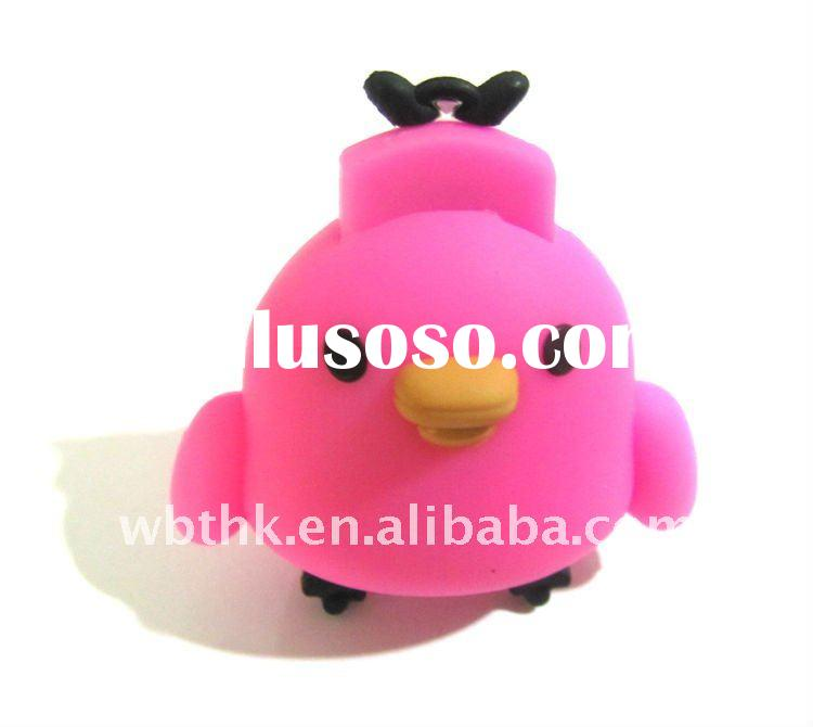 Rubber Different Shaped angry bird Usb Flash drive