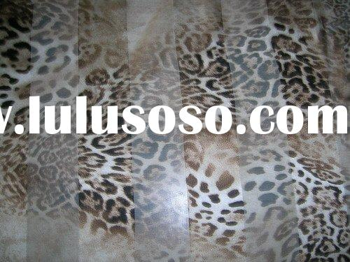 SILK STRIPE PRINT ANIMAL PRINT SILK FABRIC STRETCH SATIN