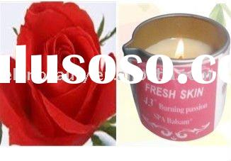 SPA Massage Oil Body-Candle massage oil, Rose burning passion body massage body candle
