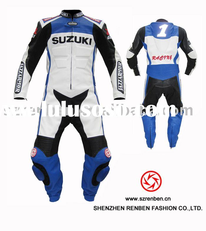 SUZUKI motorbike leather suit