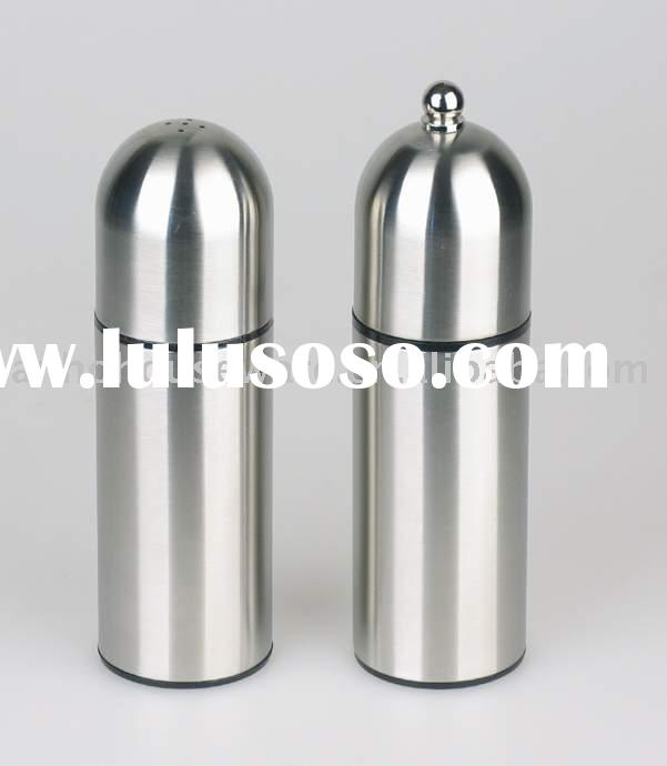 Salt and Pepper Shaker (Pepper Grinder, Stainless Steel Salt and Pepper Mill)