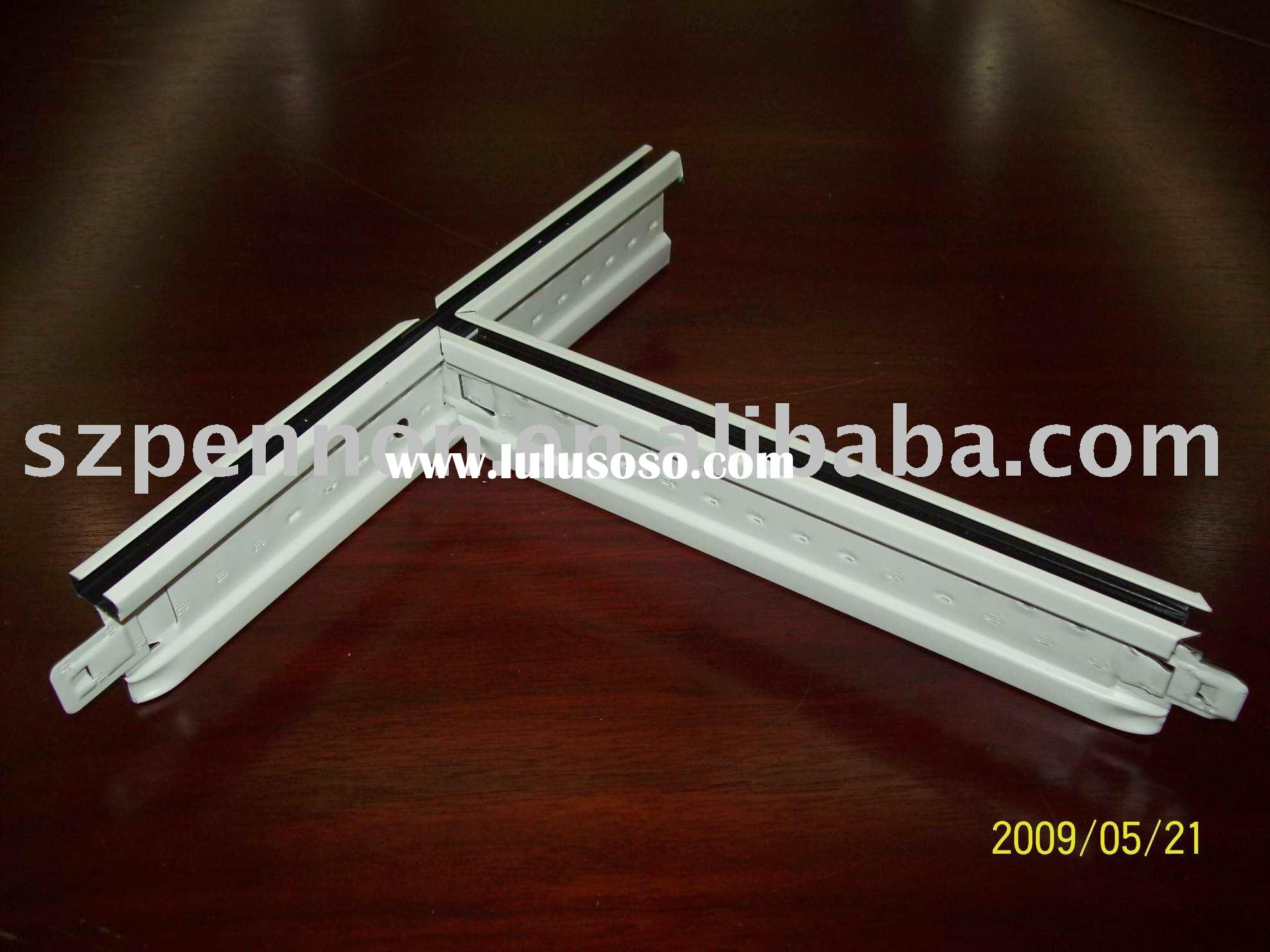 Slotted ceiling T grid(Ultraline T grid),ceiling T bar,ceiling suspension t bar,t grid,metal profile